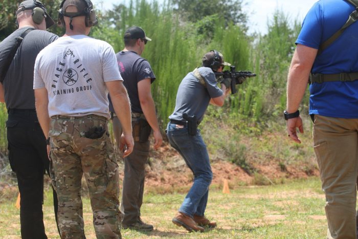 Shooting Rifle at the Range with BRTG